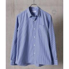 SHIPS JET BLUE: COOLMAX チェックストライプ レギュラーシャツ【お取り寄せ商品】