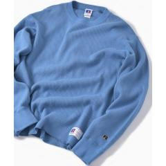 RUSSELL ATHLETIC×SHIPS: 別注 ダブルメッシュ サーマル クルーネック ロングTシャツ【お取り寄せ商品】
