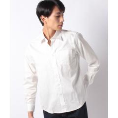 サテン 長袖レギュラーシャツ