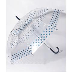 ドットボーダー柄ビニル傘