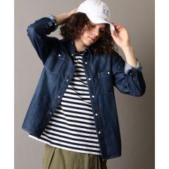 SHIPS JET BLUE: SHELTECH デニムシャツ【お取り寄せ商品】