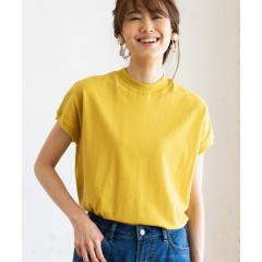 【WEB限定カラーあり・新色登場】USAコットンハイネックTシャツ【お取り寄せ商品】