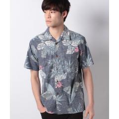 綿素材 アロハシャツ 裏プリント