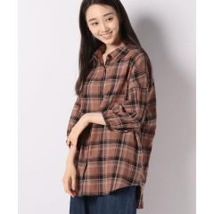 リネンブレンドチェックBIGシャツ(7)