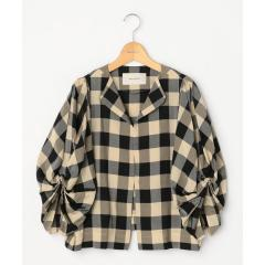 【STELLA CIFFON/ステラシフォン】ブロックチェックシャツジャケット【お取り寄せ商品】