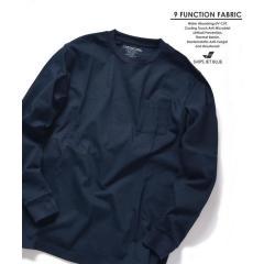 【Begin6月号 p23掲載】SHIPS JET BLUE: 9FUNCTION【接触冷感・抗菌防臭etc】ロングスリーブTシャツ【お取り寄せ商品】