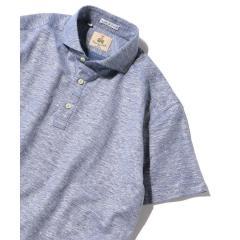 GUY ROVER: コットン リネン カッタウェイ ポロシャツ【お取り寄せ商品】