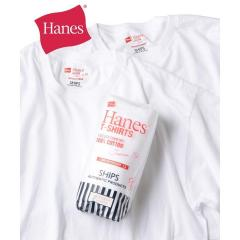 Hanes×SHIPS: 別注 NEW Tシャツ Japan Fit (2枚組)【お取り寄せ商品】