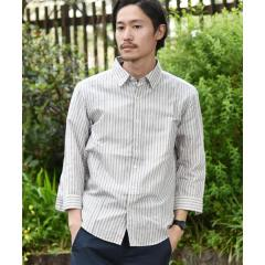 SC:【WEB限定】コットン/リネン レギュラーカラー 7スリーブシャツ【お取り寄せ商品】