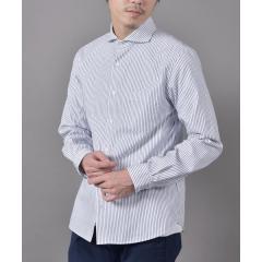 SHIPS JET BLUE: セミワイドドビー ストライプシャツ【お取り寄せ商品】