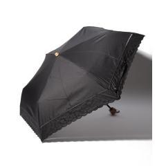 スカラップドット刺繍晴雨兼用折りたたみ傘 日傘
