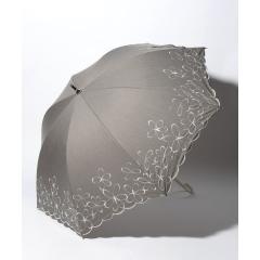 シャンブレーフラワー晴雨兼用長傘 日傘