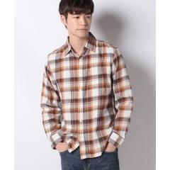 ツイル チェック柄 長袖シャツ