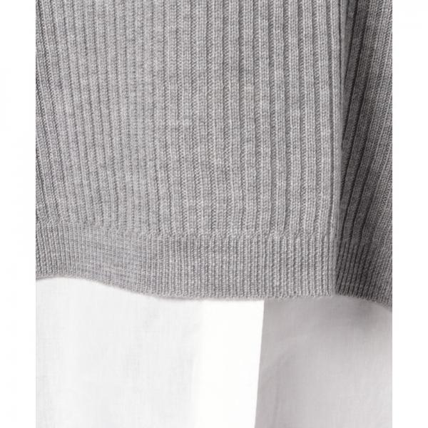 SET2点 襟シャツ+ニットベスト