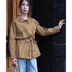 ウエストリボンミリタリーシャツ【お取り寄せ商品】