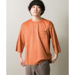フェイクスエード7分袖Tシャツ【お取り寄せ商品】