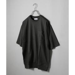 【MEN'S NON-NO 5月号 p.111掲載】SHIPS JET BLUE: ニュアンスカラー リブビッグTシャツ【お取り寄せ商品】