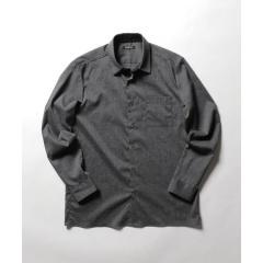 麻混ストレッチシャツ【お取り寄せ商品】