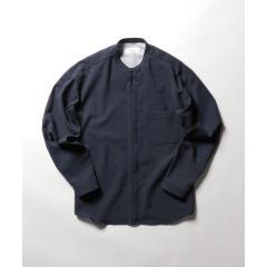 バンドカラーZIP UPシャツブルゾン【お取り寄せ商品】