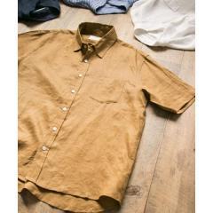 リネン半袖シャツ【お取り寄せ商品】