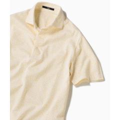 SC: ドライマスター(R) コットン フラワープリント ワイドカラー ポロシャツ【お取り寄せ商品】