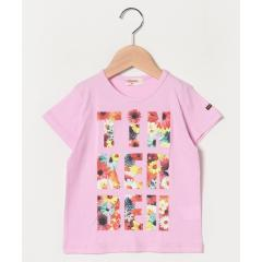 女 ロゴ花Tシャツ(130~140cm)