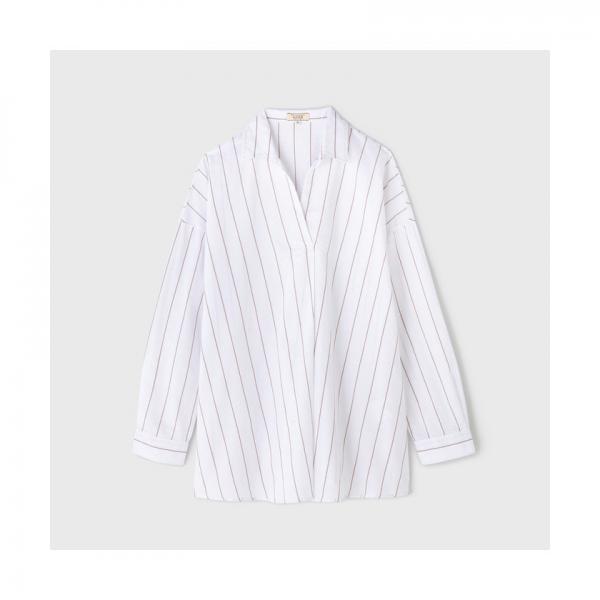 Wリネンコットンチェックシャツ長袖【お取り寄せ商品】