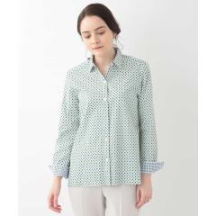 【洗える】小紋プリントシャツ\t【お取り寄せ商品】