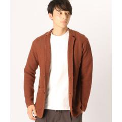 綿麻 鹿の子編み ニットジャケット
