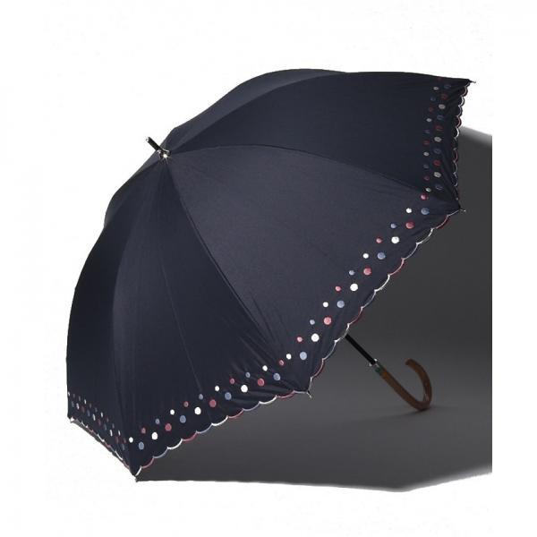 ドット刺繍晴雨兼用長傘 日傘