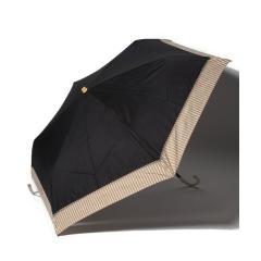 バイカラーストライプ晴雨兼用折りたたみ傘 日傘