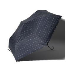 スカラップドットプリント晴雨兼用折りたたみ傘 日傘