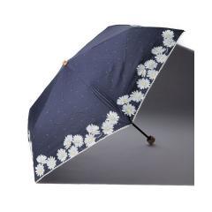 フラワー柄晴雨兼用折りたたみ傘 日傘