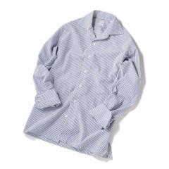 SD: SPOERRY ICE COTTON(R) ワンピース ストライプ シャツ(ブルー)【お取り寄せ商品】