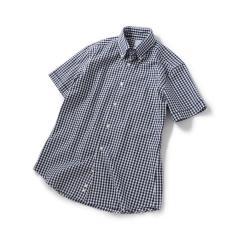 SD:【GIZA】カラミ ショートスリーブ ギンガムチェック ボタンダウンシャツ【お取り寄せ商品】