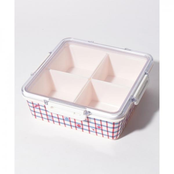 角型3段コンパクトランチボックス/エディット・キャロン