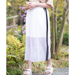 WEGO/サイドラインメッシュロングスカート