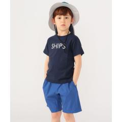 SHIPS KIDS:ピンクはWEB限定!<ファミリーおそろい>SHIPS ロゴ TEE(100~160cm)【お取り寄せ商品】