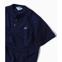 LACOSTE: 別注 カノコ ヘンリーネック Tシャツ【お取り寄せ商品】