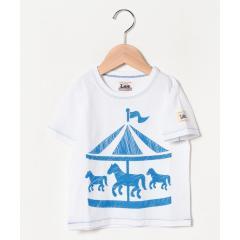 【100cm-160cm】プリントTシャツ メリーゴーランド