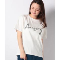 Hunch ロゴ刺繍+背裏ptTシャツ