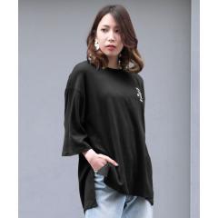 バックプリントスリットビッグシルエットTシャツ【お取り寄せ商品】