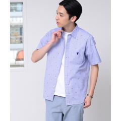 ドビーストライプ半袖シャツ【お取り寄せ商品】