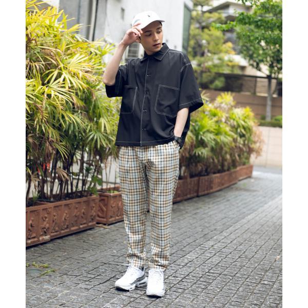 配色ステッチBIGシャツ(5)