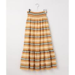 ジャガードボーダーマキシ丈スカート【お取り寄せ商品】