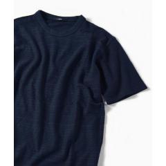 SC: コットン/リネン アラン ジャガード Tシャツ【お取り寄せ商品】