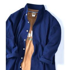 SU:【COOL MAX】コットン/リネン スタンドカラー 7スリーブ シャツ【お取り寄せ商品】