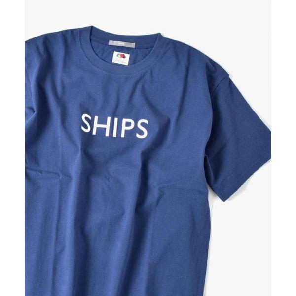 SU:【一部WEB限定カラー】SHIPSロゴ エンブロイダリー Tシャツ【お取り寄せ商品】