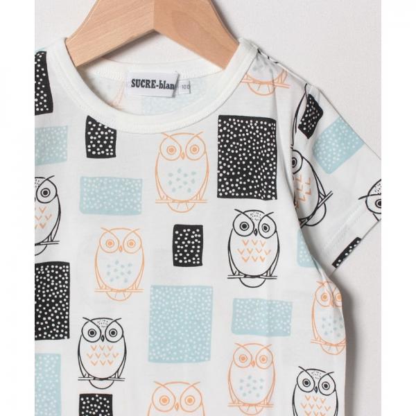 a9ca057e1776b LOHACO - フクロウフクロウプリントカットソー(90~130cm) (Tシャツ ...
