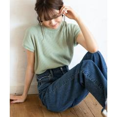 ワッフルフレンチスリーブカットソー【お取り寄せ商品】
